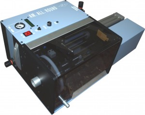 Electro-pneumatic wire stripping machine AM.ALL.ROUND with rotating blades